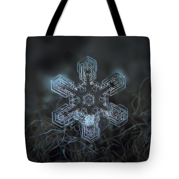 Tote Bag featuring the photograph Snowflake Photo - Alioth by Alexey Kljatov
