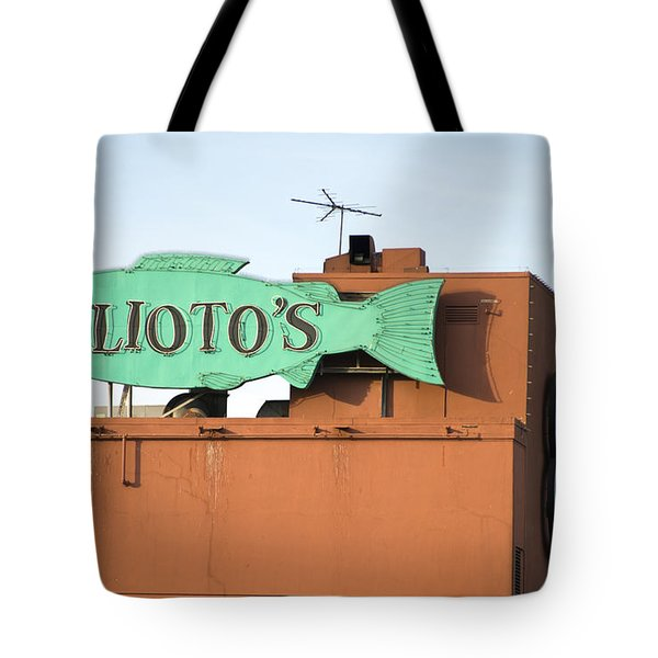 Alioto's Sign Fisherman's Wharf 2 Tote Bag