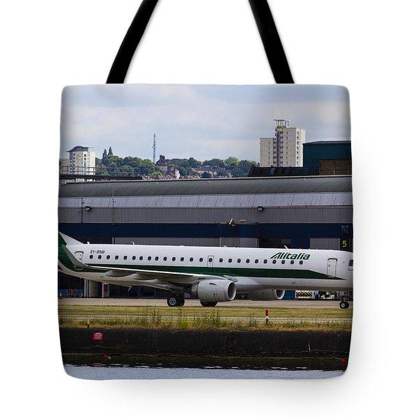 Alitalia  Embraer Erj-190 London City Airport Tote Bag