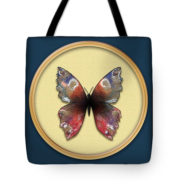 Alizarin Butterfly Tote Bag