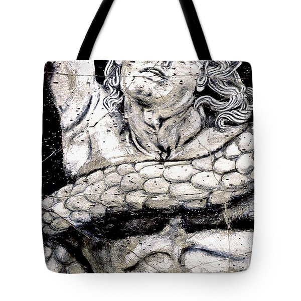 Alkyoneus - Detail No. 1 Tote Bag by Steve Bogdanoff