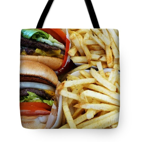 All American Cheeseburgers And Fries Tote Bag