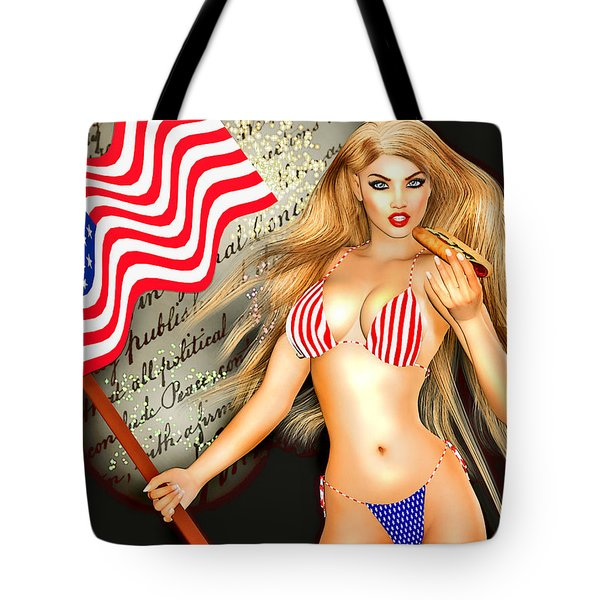 All American Girl - Independence Day Tote Bag by Alicia Hollinger