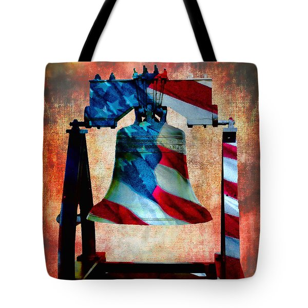 Liberty Bell Art Smooth All American Series Tote Bag