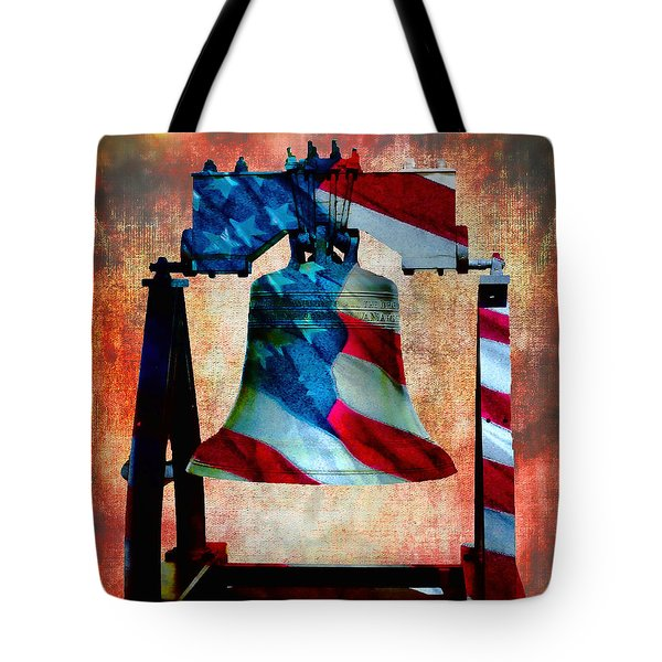 Liberty Bell Art Smooth All American Series Tote Bag by Lesa Fine