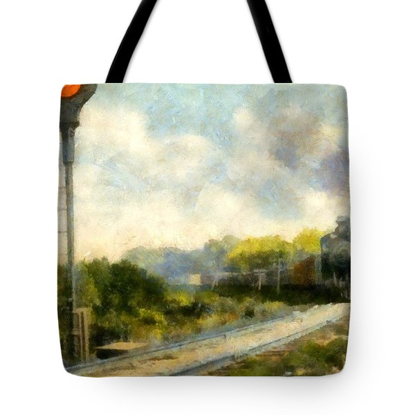 All Clear On The Pere Marquette Railway  Tote Bag by Michelle Calkins