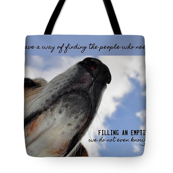 All Dogs Go To Heaven Quote Tote Bag by JAMART Photography