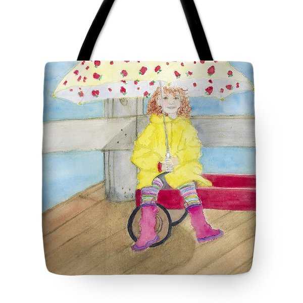 All Dressed Up And Ready For Rain Tote Bag