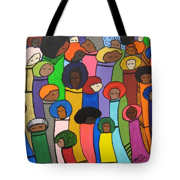 All Of Us Tote Bag by Clarissa Burton