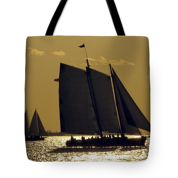 All Sails Sunset In Key West Tote Bag