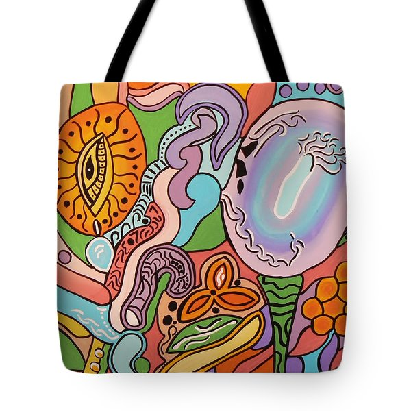 Tote Bag featuring the painting All Seeing Egg Salad by Barbara St Jean