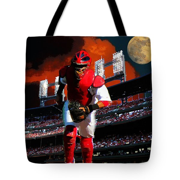 All Star Yadier Molina Tote Bag by John Freidenberg