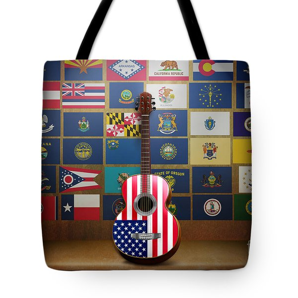 All State Flags Tote Bag by Bedros Awak