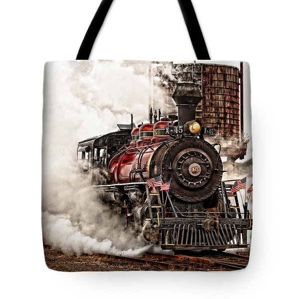 All Steamed Up Tote Bag by Mary Jo Allen
