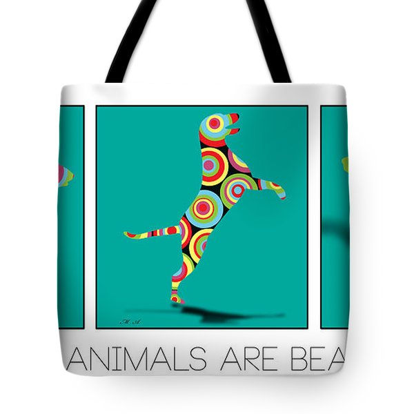 All The Animal Are Beautiful  Tote Bag by Mark Ashkenazi