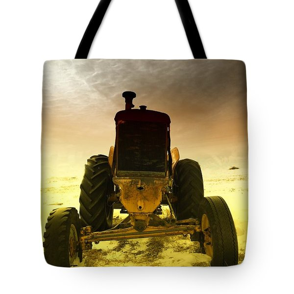 All The Feilds She Plowed Tote Bag by Jeff Swan