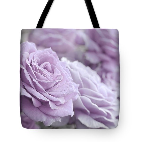Tote Bag featuring the photograph All The Soft Violet Roses by Jennie Marie Schell