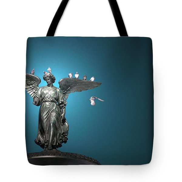 All The Winged Creatures In Blue Tote Bag by Joanna Madloch