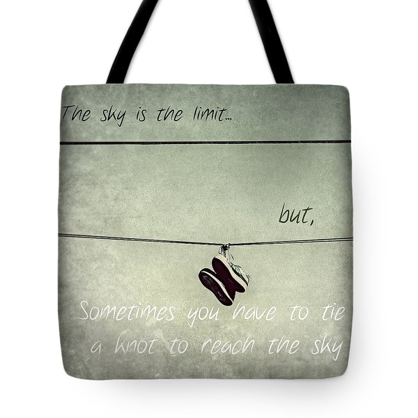 Tote Bag featuring the photograph All Tied Up Inspirational by Melanie Lankford Photography