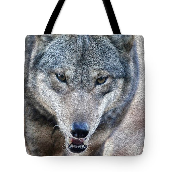 All Wolf Tote Bag by Karol Livote