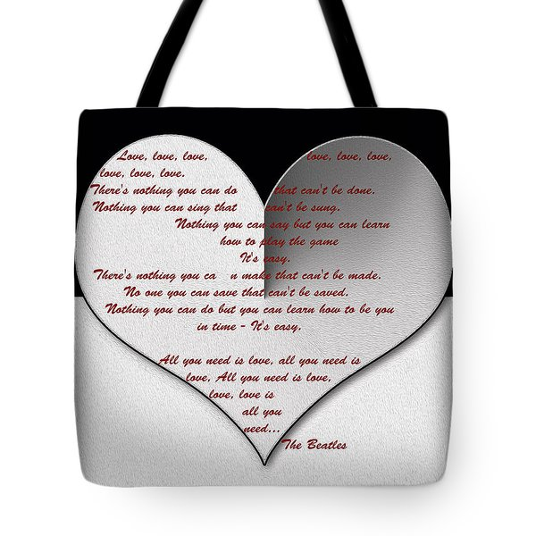 All You Need Is Love Digital Painting Tote Bag