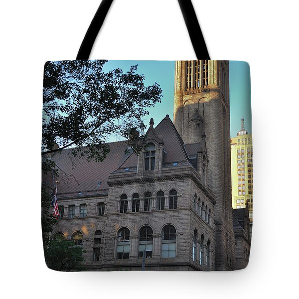 Tote Bag featuring the photograph Allegheny County Courthouse by Steven Richman