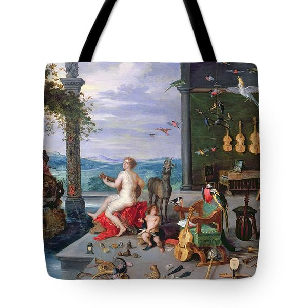 Allegory Of Music Oil On Canvas Tote Bag