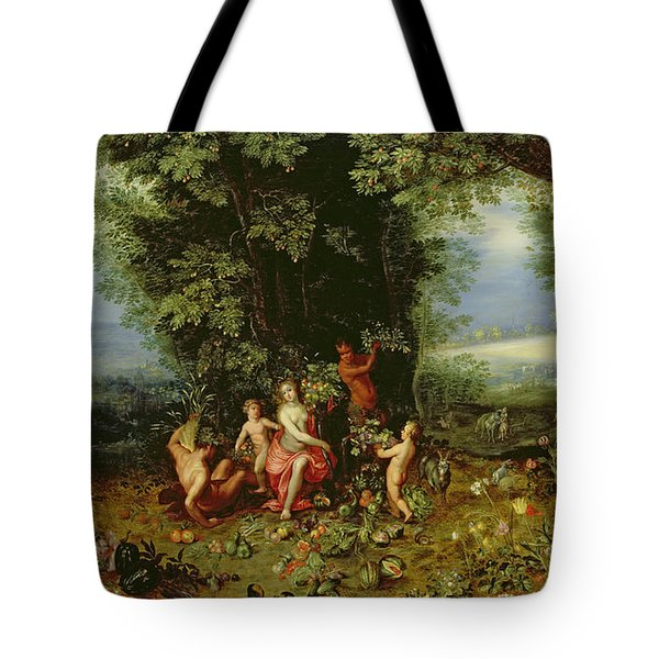 Allegory Of The Earth Tote Bag