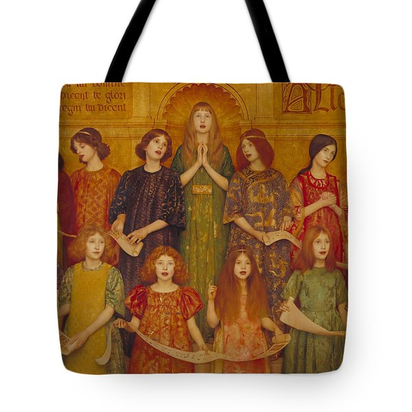 Tote Bag featuring the painting Alleluia by Thomas Cooper Gotch