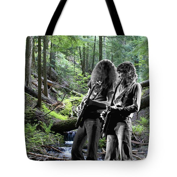 Tote Bag featuring the photograph Allen And Steve On Mt. Spokane 2 by Ben Upham