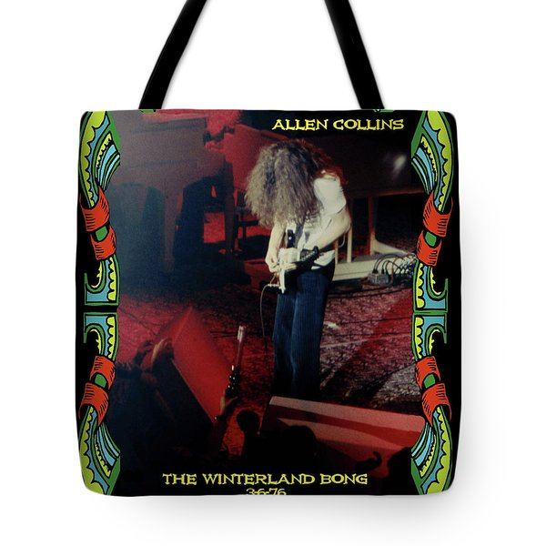 Tote Bag featuring the photograph A C  Winterland Bong 6 by Ben Upham