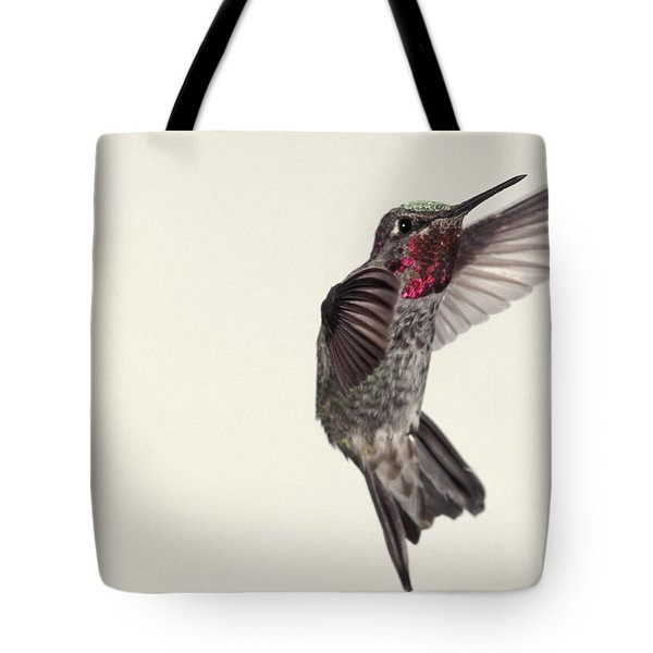 Allens Hummingbird In Flight Tote Bag