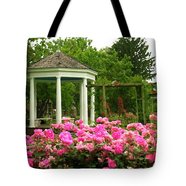 Allentown Pa Gross Memorial Rose Gardens Tote Bag by Jacqueline M Lewis