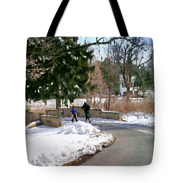 Allentown Pa Trexler Park Winter Exercise Tote Bag