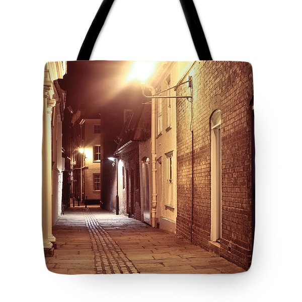 Alley At Night Tote Bag by Tom Gowanlock