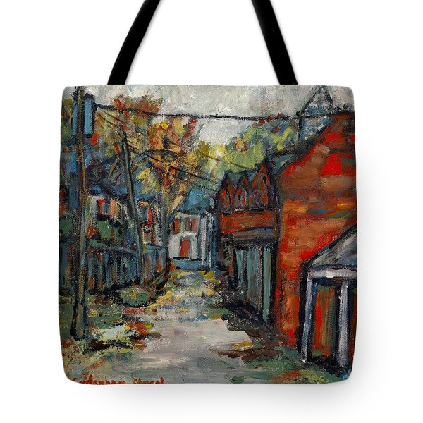 Alley Behind Sydenham Street Tote Bag