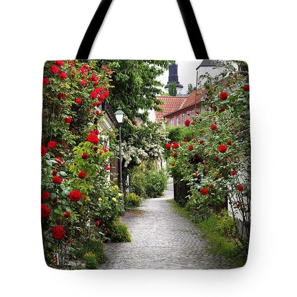 Alley Of Roses Tote Bag