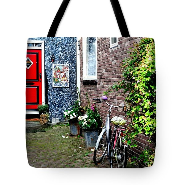 Tote Bag featuring the photograph Alleyway In Dutch Village by Joe  Ng