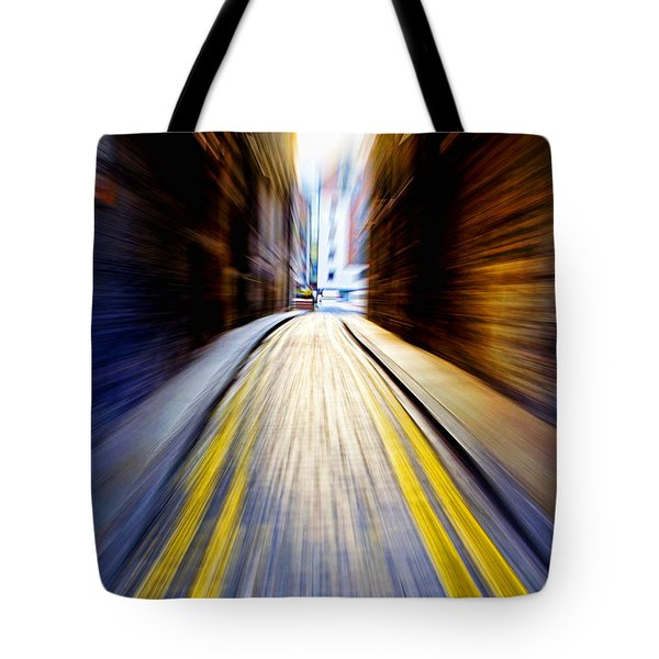 Alleyway With Motion Tote Bag