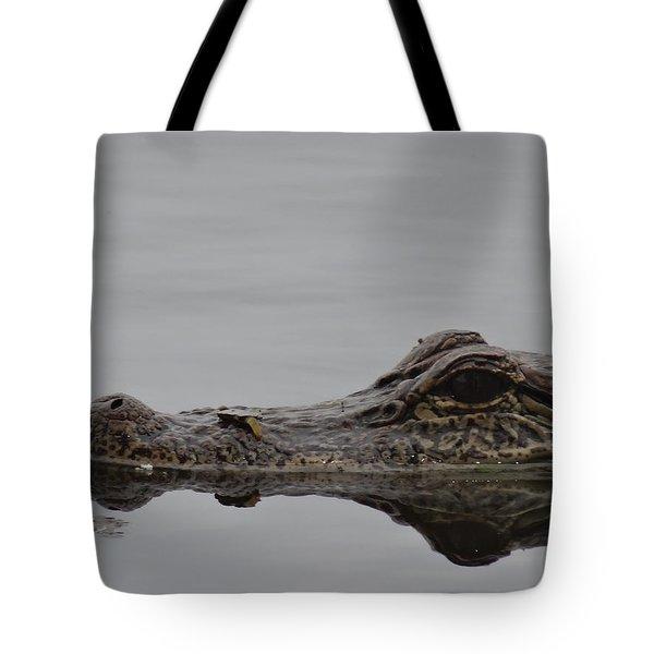 Alligator Eyes Tote Bag