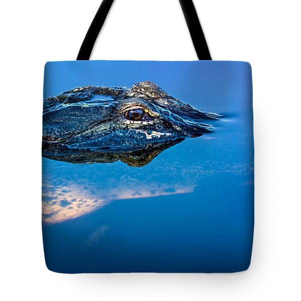 Alligator Panorama Tote Bag