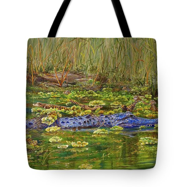 Alligator Pod Tote Bag by AnnaJo Vahle