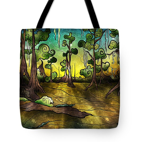 Alligator Swamp Tote Bag