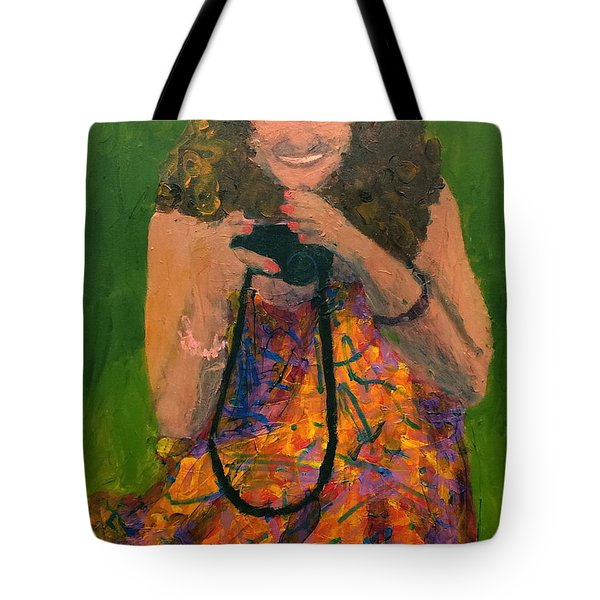 Tote Bag featuring the painting Allison by Donald J Ryker III