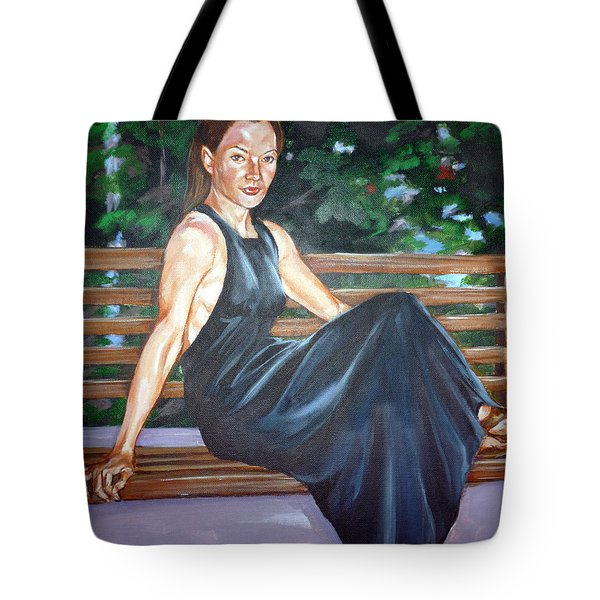 Tote Bag featuring the painting Allison Two by Bryan Bustard