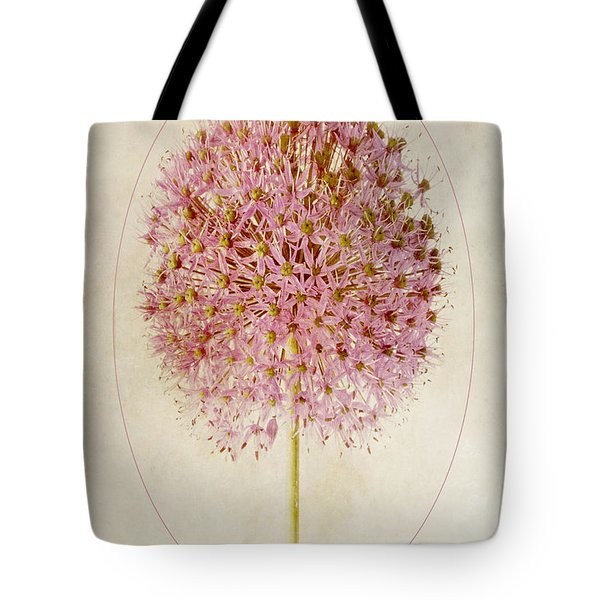 Allium Pink Jewel Tote Bag by John Edwards