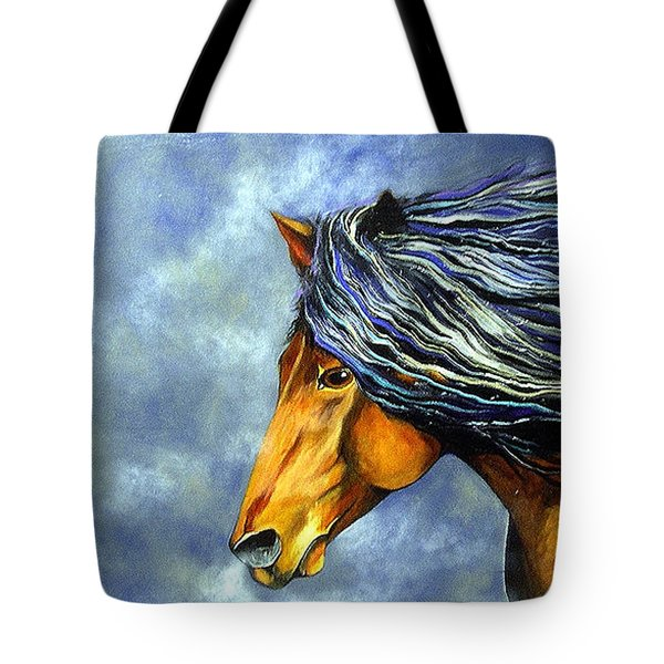 Tote Bag featuring the painting Almanzors Glissando  by Alison Caltrider