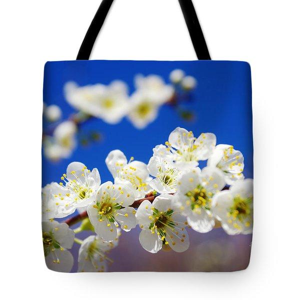 Almond Blossom Tote Bag by Carlos Caetano