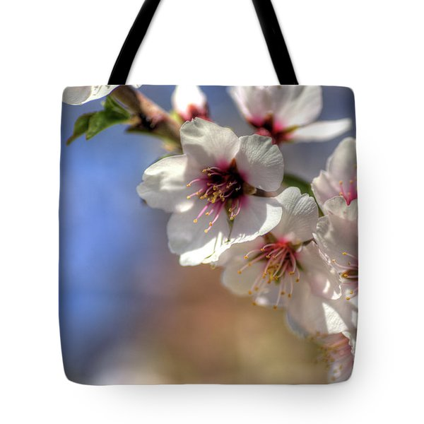 Tote Bag featuring the photograph Almond Blossoms by Jim and Emily Bush