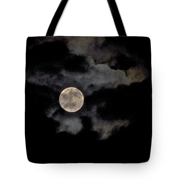Almost Full Moon Tote Bag by Joe  Burns